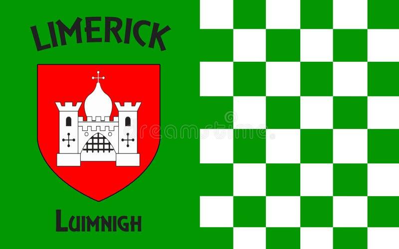 La bandiera della contea di Limerick è una contea in Irlanda fotografie stock