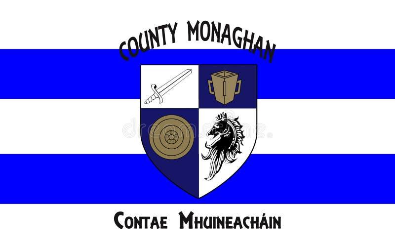 La bandiera della contea Monaghan è una contea in Irlanda immagini stock libere da diritti