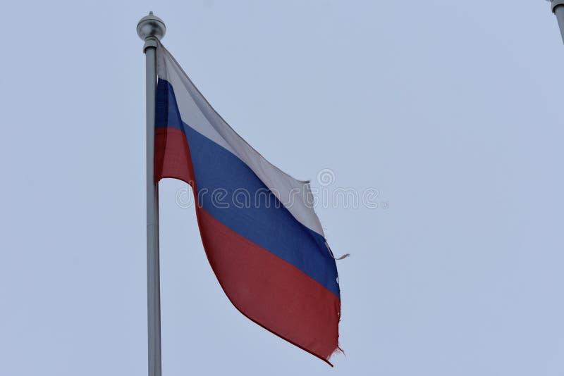 La bandiera della Federazione Russa immagini stock