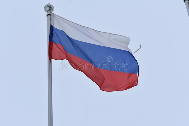 La bandiera della Federazione Russa fotografia stock libera da diritti