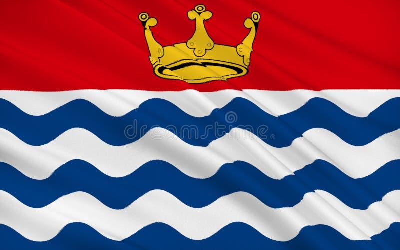 La bandiera della grande Londra, o di Londra, è una regione di Inghilterra royalty illustrazione gratis