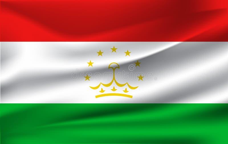 La bandiera della Repubblica del Tagikistan royalty illustrazione gratis
