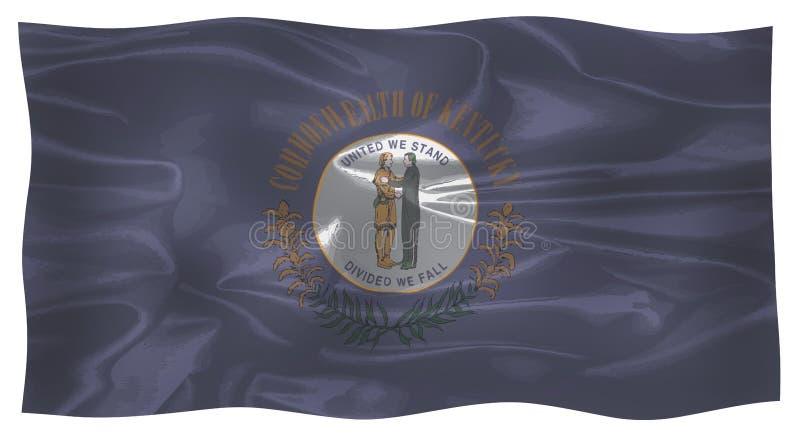 La bandiera dello stato del Kentucky royalty illustrazione gratis