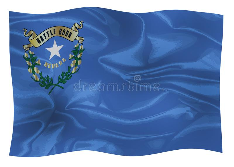 La bandiera dello stato del Nevada americano illustrazione di stock