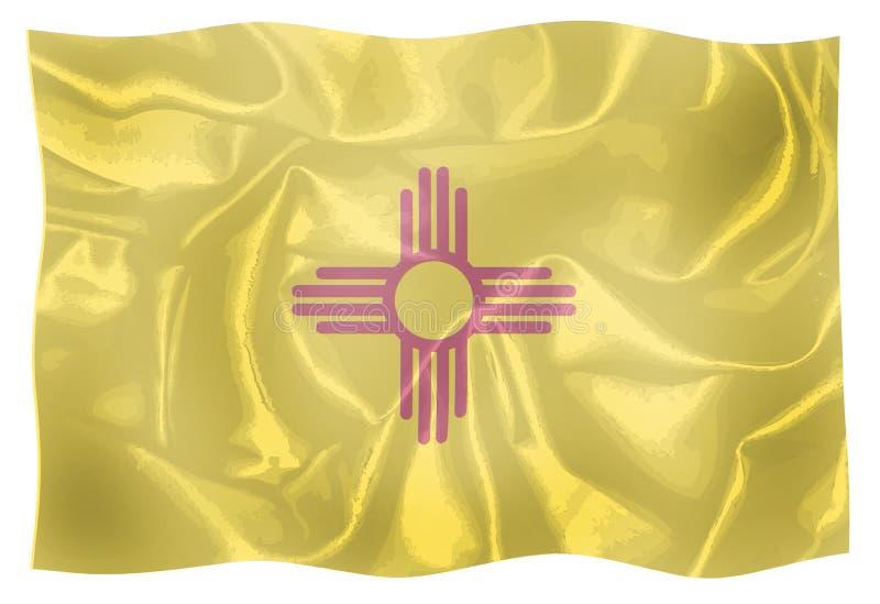 La bandiera dello stato del New Mexico illustrazione vettoriale