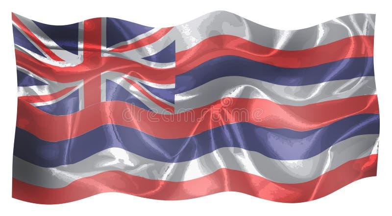 La bandiera dello stato dello stato delle Hawai unito illustrazione di stock