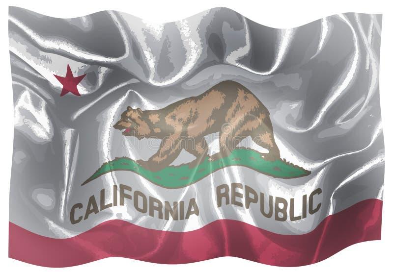La bandiera dello stato di U.S.A. di California illustrazione vettoriale