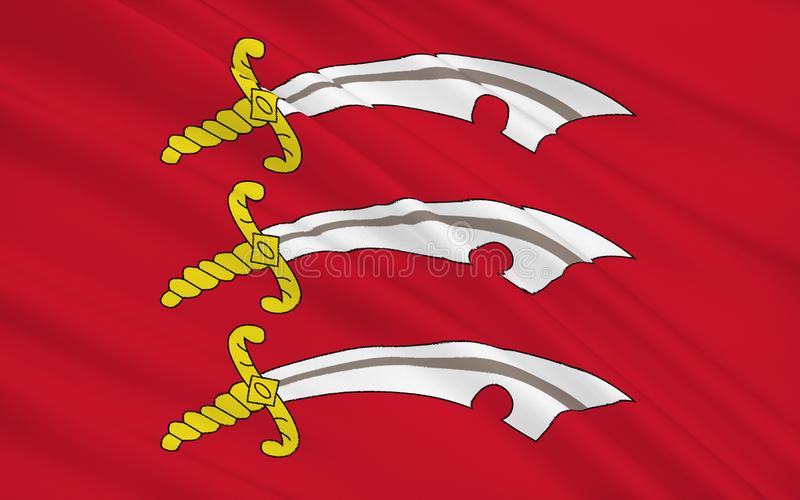 La bandiera di Essex è una contea, Inghilterra immagine stock