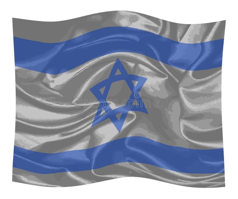 la bandiera di Israele illustrazione di stock