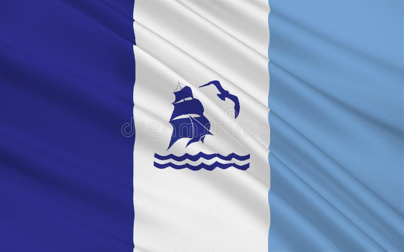 La bandiera di Rio Gallegos di Santa Cruz è una provincia in Argentina fotografia stock