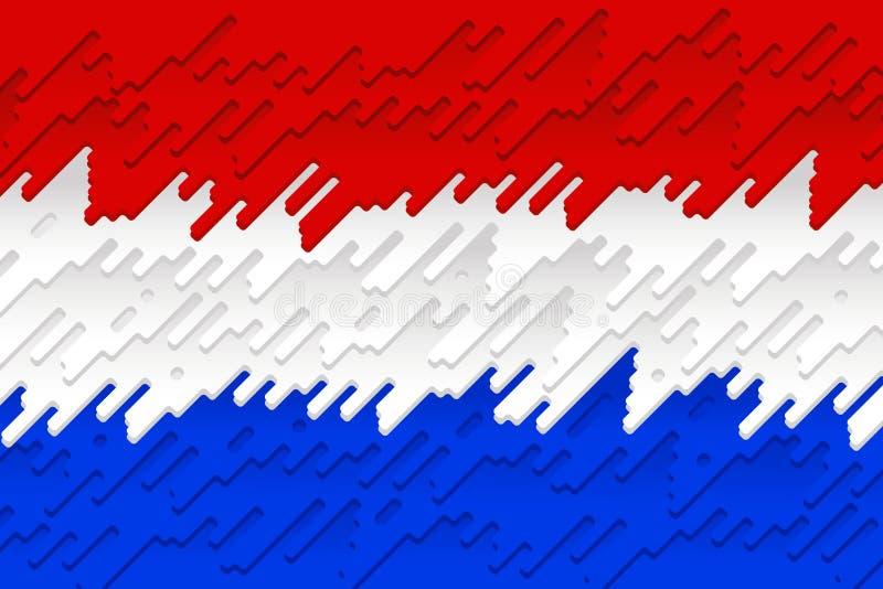 La bandiera nazionale dei Paesi Bassi illustrazione vettoriale