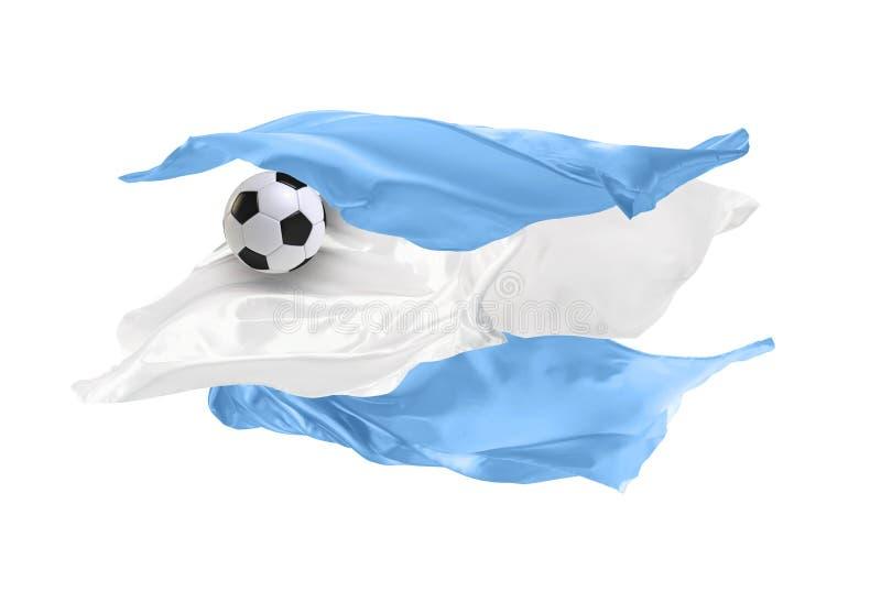 La bandiera nazionale dell'Argentina Coppa del Mondo della FIFA La Russia 2018 immagine stock libera da diritti