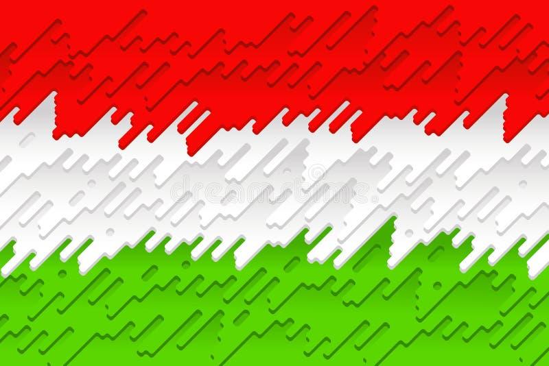 La bandiera nazionale dell'Ungheria illustrazione vettoriale