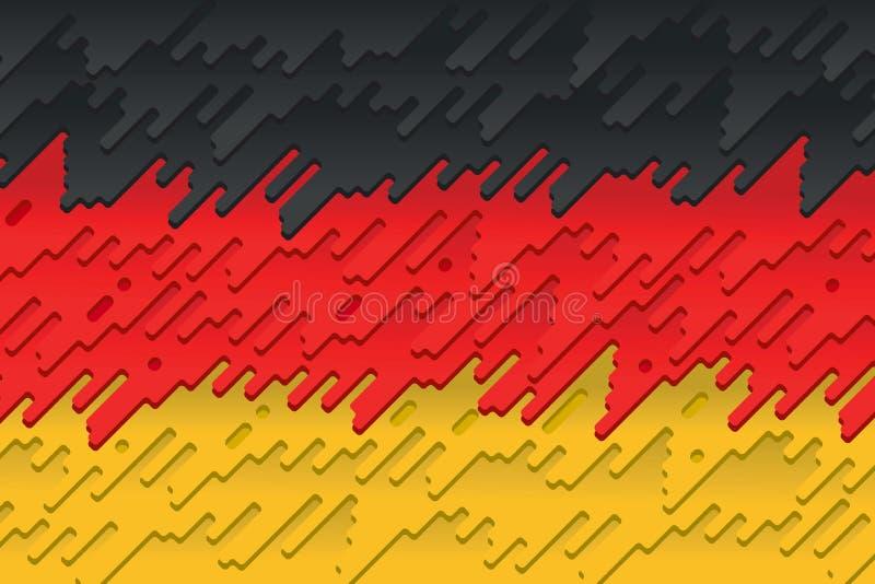 La bandiera nazionale della Germania illustrazione vettoriale