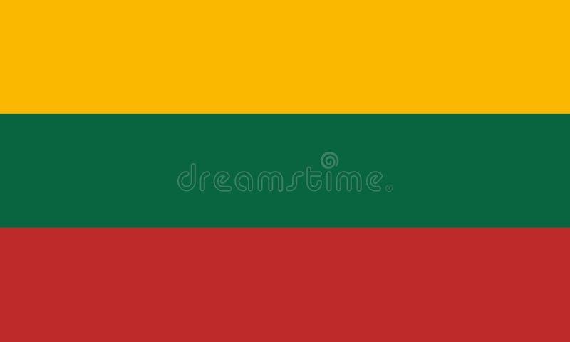 La bandiera ufficiale della Lituania royalty illustrazione gratis