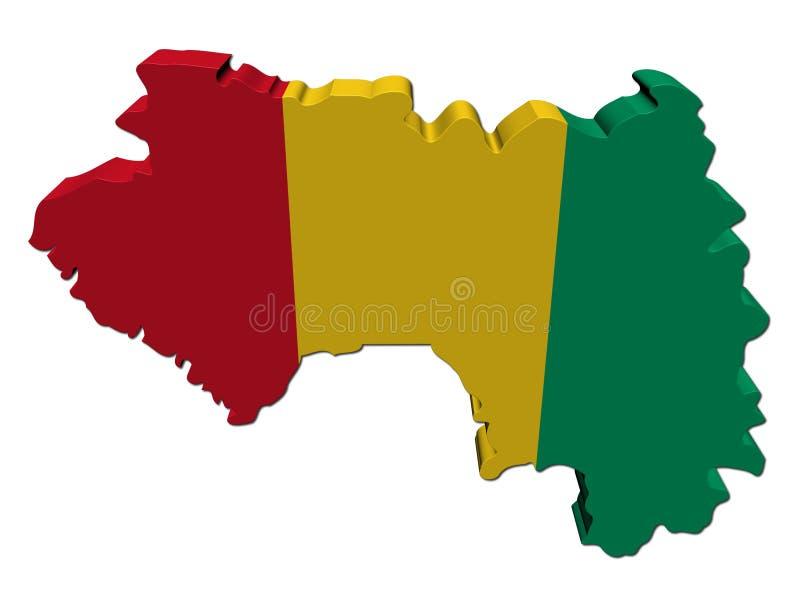 La bandierina 3d del programma della Guinea rende royalty illustrazione gratis