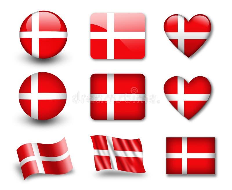 La bandierina danese illustrazione di stock