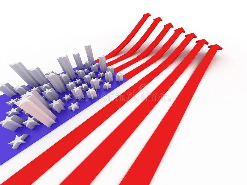 La bandierina degli S.U.A. illustrazione di stock