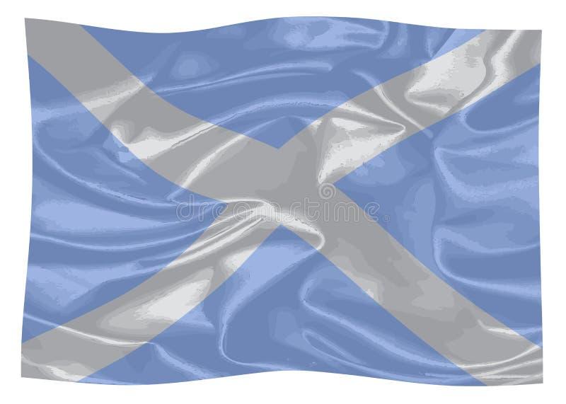 La bandierina della Scozia illustrazione vettoriale