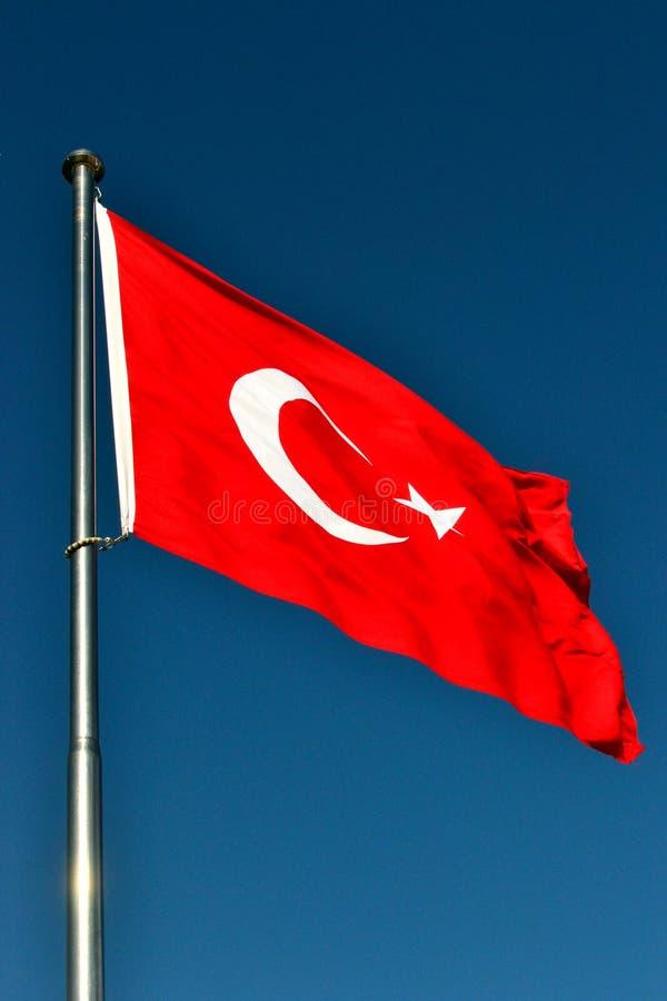 La bandierina della Turchia fotografia stock