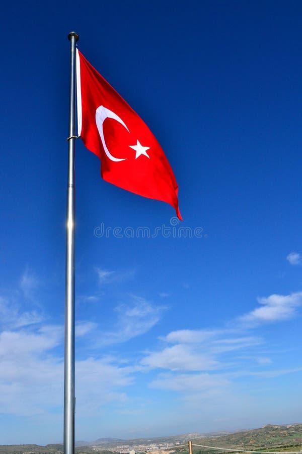 La bandierina della Turchia fotografia stock libera da diritti