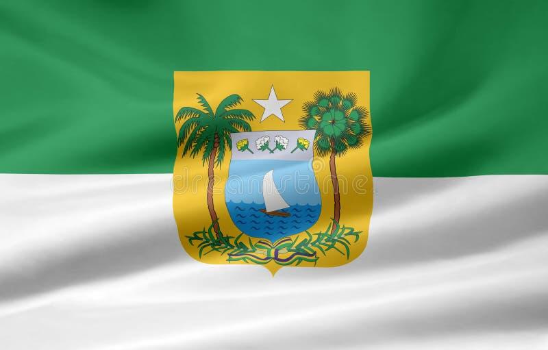 La bandierina di Rio Grande fa Norte illustrazione vettoriale