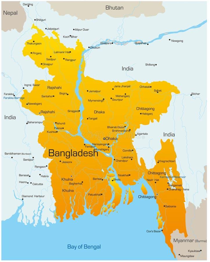 La Bangladesh illustrazione di stock