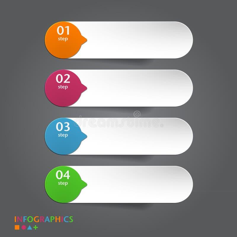 La bannière abstraite d'infographics, label, étiquette conçoit t illustration libre de droits