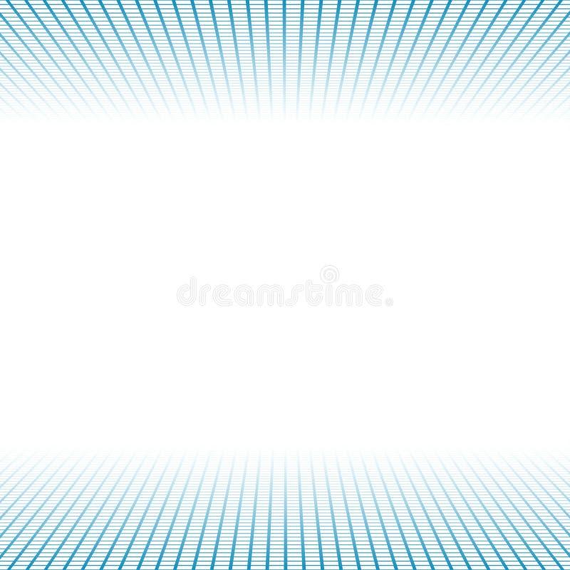 La bannière de vecteur a fait les grilles et la lumière bleues illustration stock