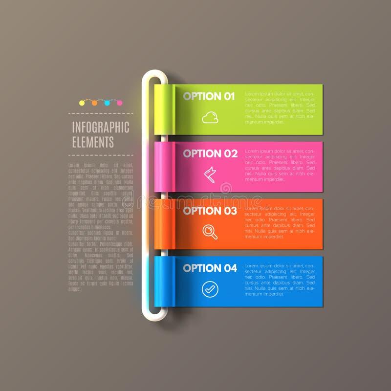La bannière fait un pas calibre infographic d'affaires illustration libre de droits