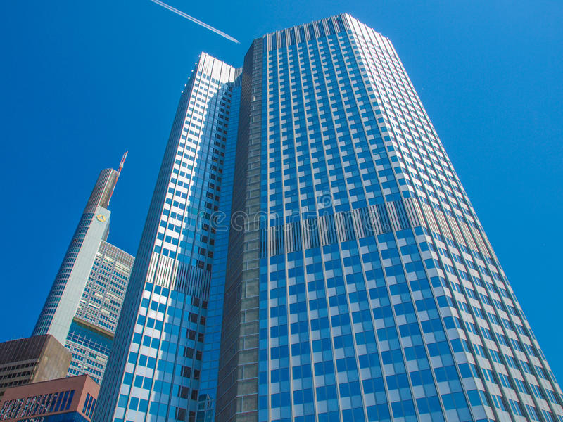 La Banque Centrale Européenne à Francfort photographie stock