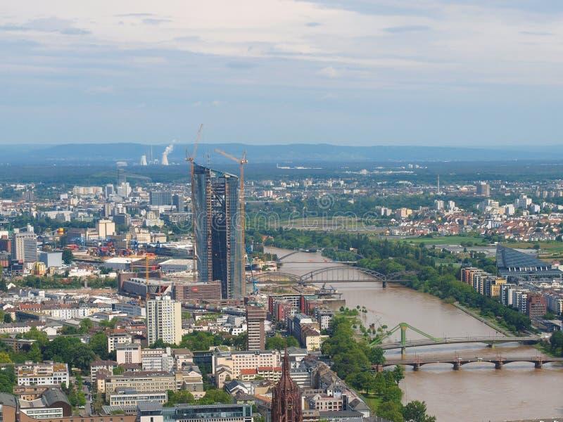 La Banque Centrale Européenne à Francfort photos stock