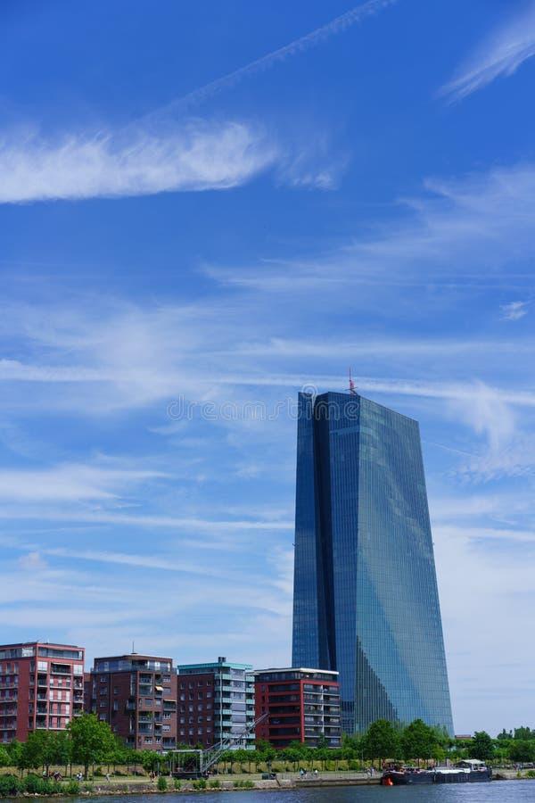 La Banque Centrale Européenne de Francfort photo libre de droits