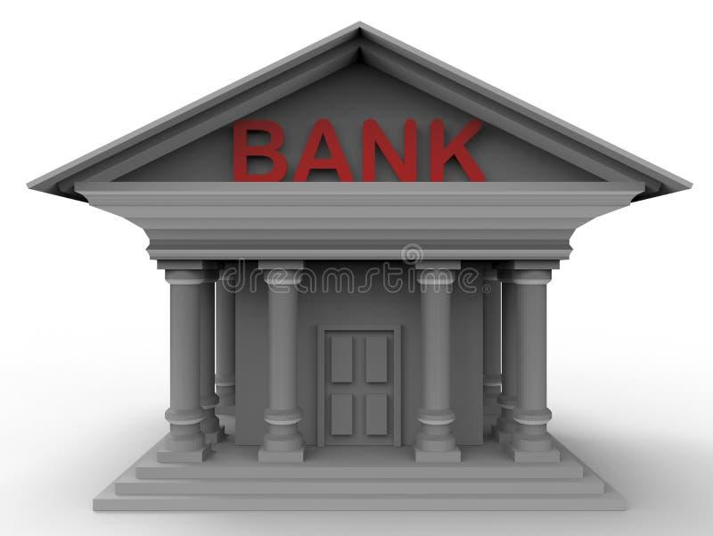 La banque 3D rendent - le concept d'icône illustration stock