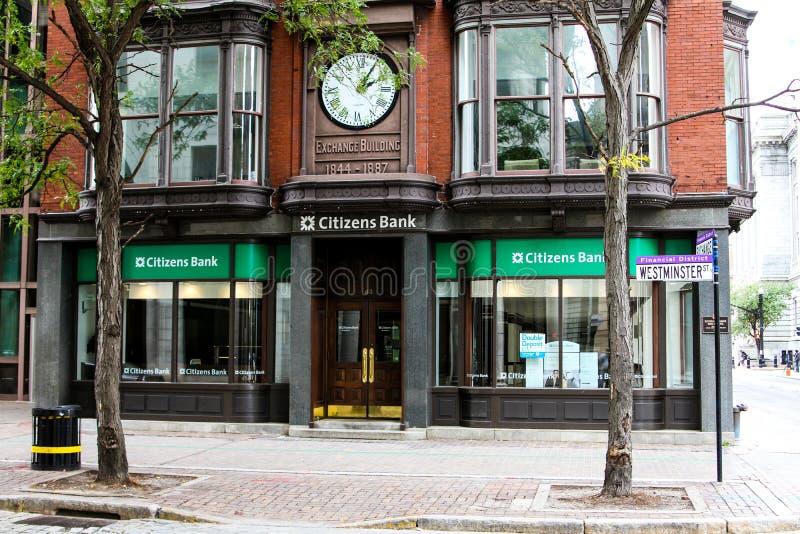 La banque du citoyen, Providence, RI image stock