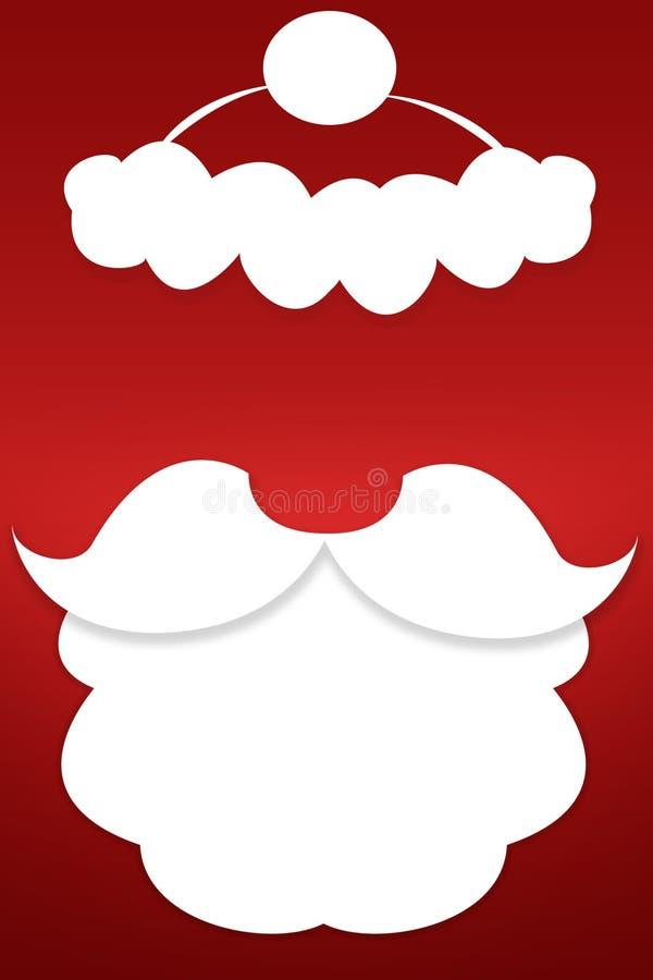 La barbe de Santa Claus sur un fond rouge images stock
