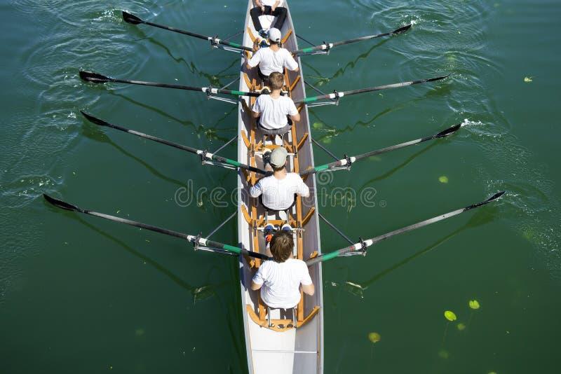 La barca coxed quattro fotografia stock libera da diritti