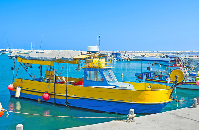 La barca variopinta immagine stock libera da diritti