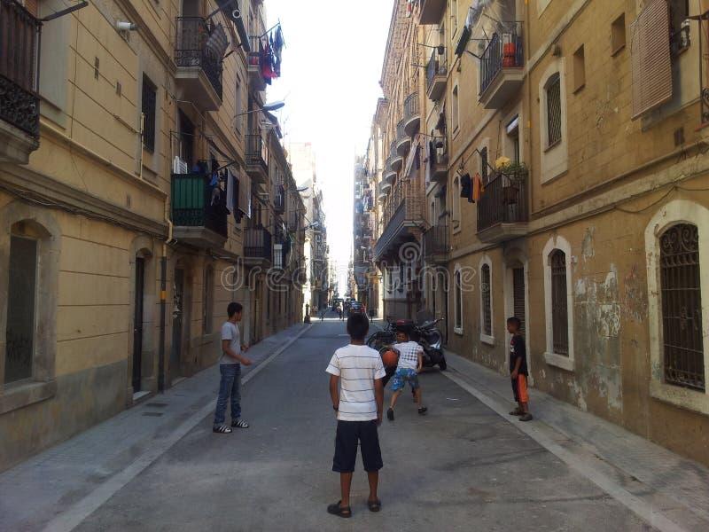 La Barceloneta,巴塞罗那 免版税库存照片