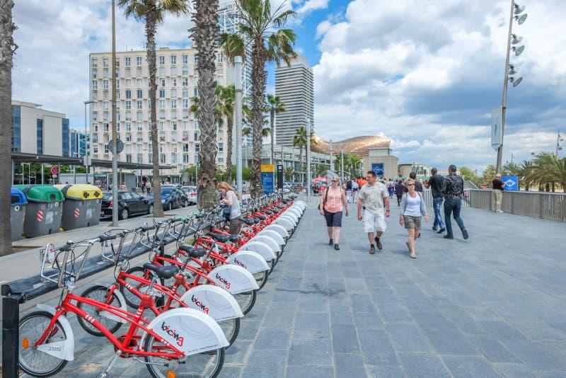 La Barceloneta, Barcelona, Cataluña imagen de archivo libre de regalías