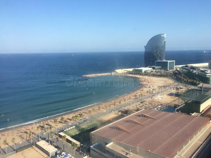 La Barceloneta-Strand lizenzfreie stockfotos