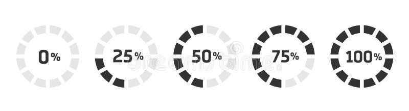 La barra cargada de la transferencia directa del progreso del precargador aisl? ilustración del vector