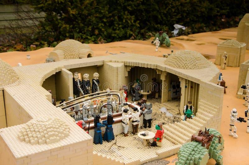 La barra de las Guerras de las Galaxias hizo de Lego fotos de archivo libres de regalías