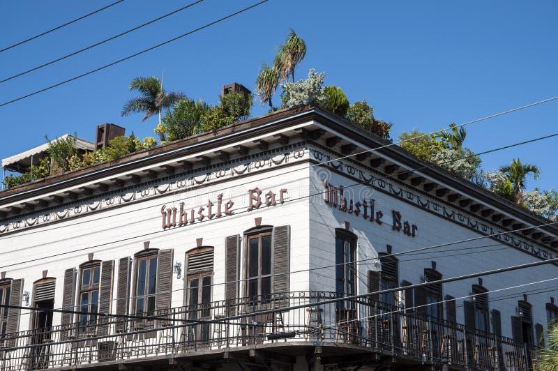 La barra del silbido en Key West foto de archivo
