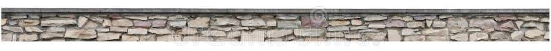La barrière en pierre, mur de roche de jardin, vieux panorama d'isolement de pile de brique, panoramique monopolisent la parole l images stock