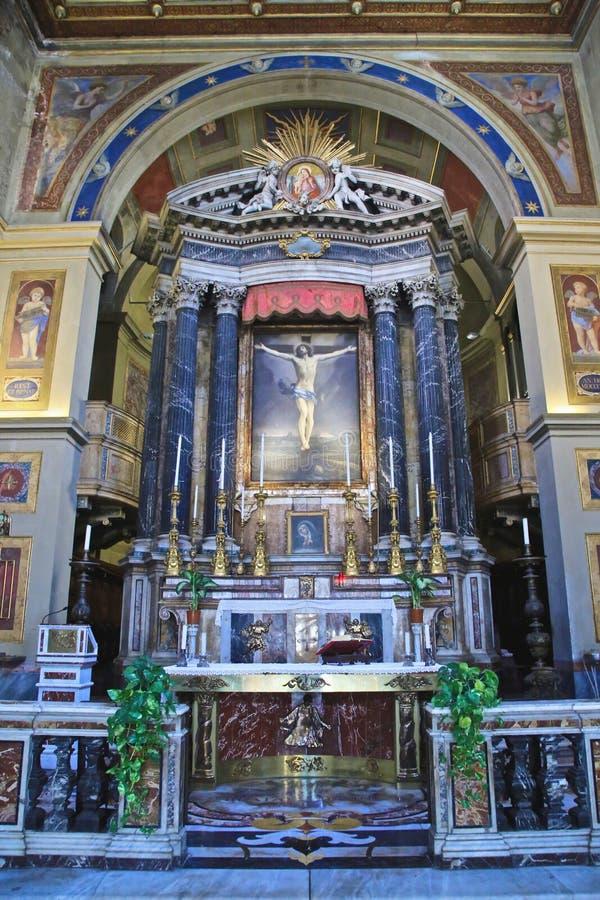 La basílica altera Italia fotografía de archivo