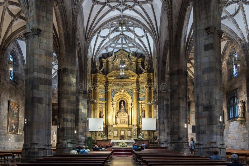 La basílica de la begonia en Bilbao de España imágenes de archivo libres de regalías