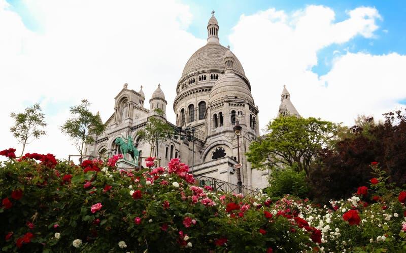 La basílica de Sacre-Coeur en Montmartre, París foto de archivo