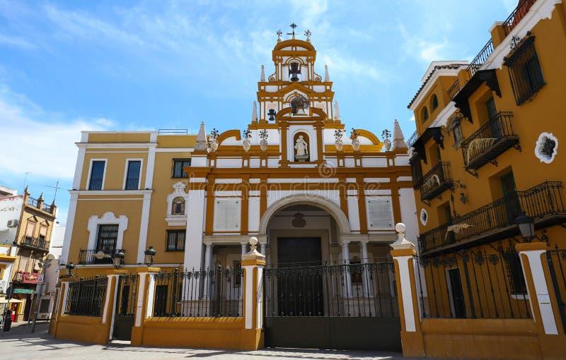 La basílica de Santa Maria de la Esperanza Macarena, también conocida popular como la basílica del La Macarena sevilla fotos de archivo libres de regalías