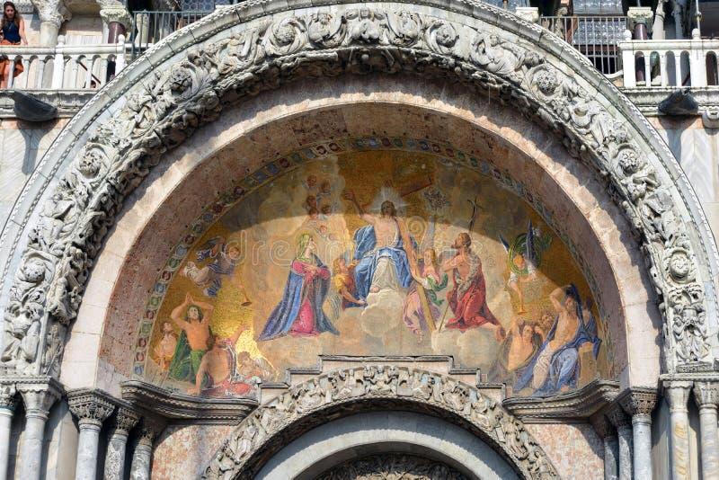 La basílica de St Mark de Venecia - Italia imagen de archivo